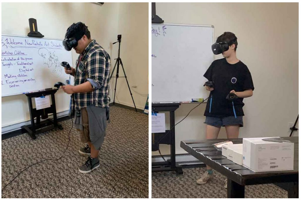 Students with VR Headsets