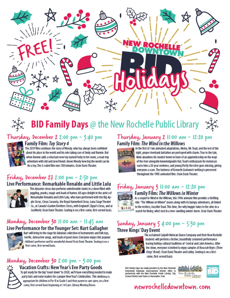 BID Family Days @ the New Rochelle Public Library