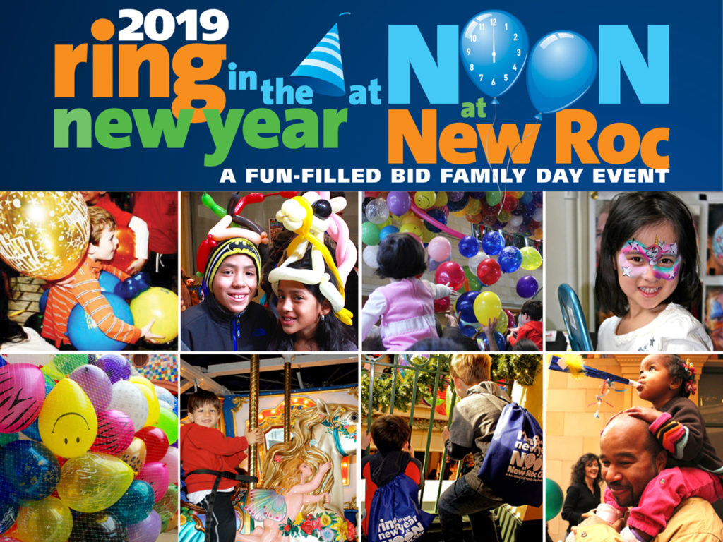 BID Family Days: Ring in the New Year at Noon at New Roc City