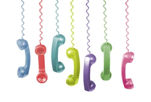 phones hanging