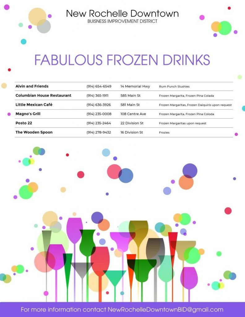 Frozen Drink Menu